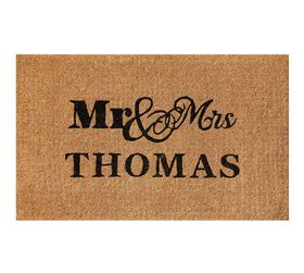 Pottery Barn Mr. and Mrs. Personalized Doormat - 2