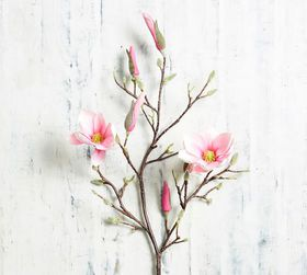 Pottery Barn Faux Blooming Magnolia Branch