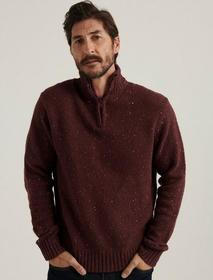 Lucky Brand Donegal Half Zip Mock Neck Sweater
