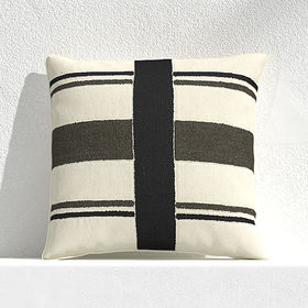 """Crate Barrel Mohave Narrow Stripe 20"""" Outdoor Pill"""
