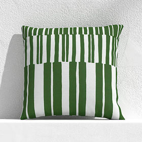 """Crate Barrel Striped Lines Cactus 20"""" Outdoor Pill"""