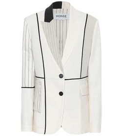 Monse Inside Out Patchwork blazer