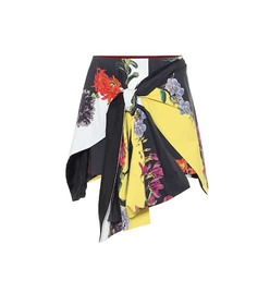 Oscar de la Renta Printed stretch-cotton shorts