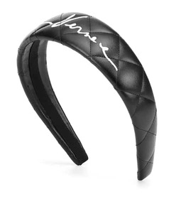 Versace Faux-leather headband