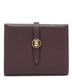 Burberry TB leather wallet