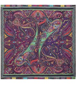 Etro Printed silk and wool scarf