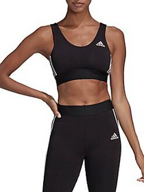 Adidas Stripes Workout Bra BLACK WHITE