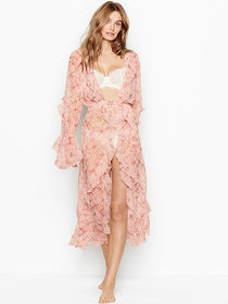 Victoria Secret Ruffle Long Robe