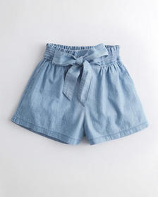 Hollister Ultra High-Rise Paper-Bag Chambray Short