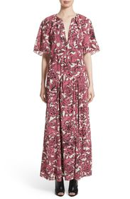 Burberry Hallie Silk Maxi Dress