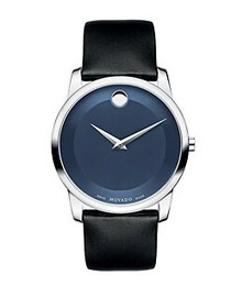 Movado Museum Classic Stainless Steel & Leather St