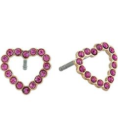 Fossil To The Heart Stainless Steel Stud Earrings