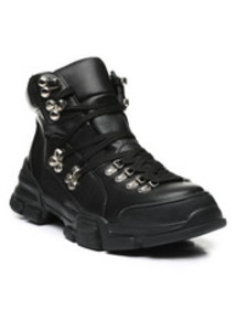 Fashion Lab lace-up hiker boots
