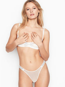 Victoria Secret Unlined Bow Quarter Cup Bra