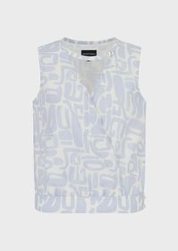 Armani Printed-muslin, crossed blouse