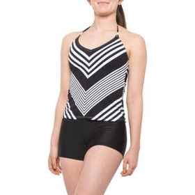 La Blanca Fine Line Mitered Tankini Top (For Women