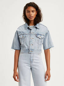 Levi's Cropped Dad Trucker Jacket