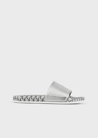 Armani Sliders with PVC strap