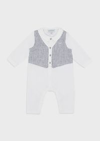 Armani Bodysuit with striped linen insert