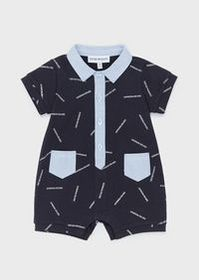 Armani Romper with all-over logo