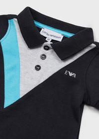 Armani Polo shirt in piquet with contrasting inser
