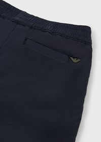 Armani Light cotton, garment-dyed trousers