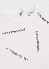 Armani T-shirt with all-over logo print