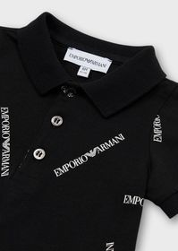 Armani Jersey polo shirt with all-over logo