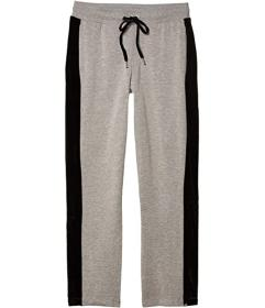 Bebe Sport Fleece Track Sweatpants with Velour Str
