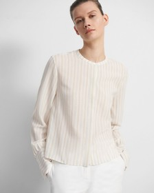 Easy Woven Shirt in Corded Stripe