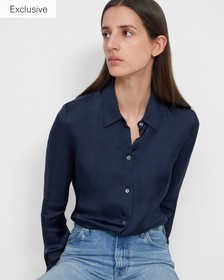 Fitted Shirt in Slinky Twill