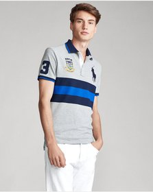 Ralph Lauren Striped Big Pony Polo Shirt - All Fit