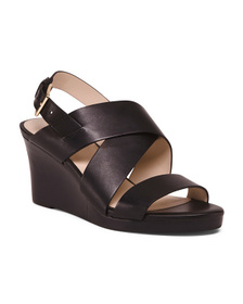 COLE HAAN All Day Comfort Leather Wedge Sandals