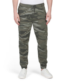 IRON CO. Falkirk Stretch Twill Flat Front Joggers