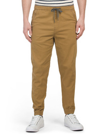 IRON CO. Falkirk Flat Front Stretch Twill Joggers