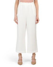 TAHARI BY ASL Pull On Soft Wide Leg Cropped Pants