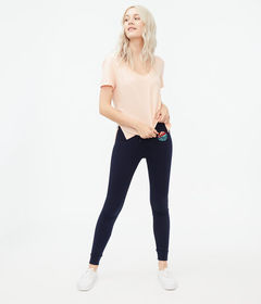 Aeropostale Cali Surf Fitted Knit Joggers