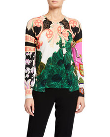 Etro Floral Patchwork Stampa Sweater