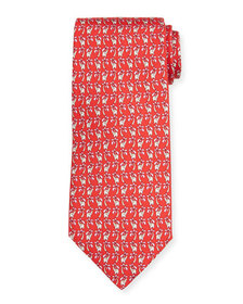 Salvatore Ferragamo Elephant & Palm Tree-Print Tie