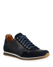 Magnanni for Neiman Marcus Men's Leather/Suede Sne