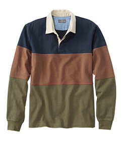 LL Bean Men's Signature Classic Rugby, Long-Sleeve