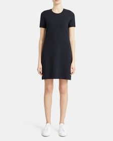 T-Shirt Dress in Stretch Cotton