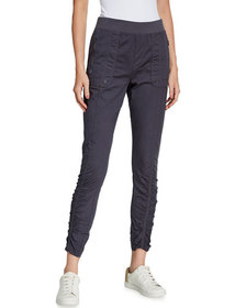 XCVI Grassroots Ruched Crop Pull-On Pants