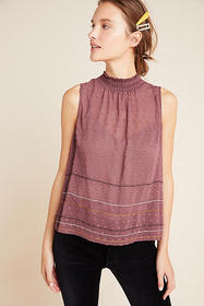 Anthropologie DOLAN Collection Ida Mock Neck Top