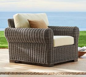 Pottery Barn Huntington All-Weather Wicker Roll Ar