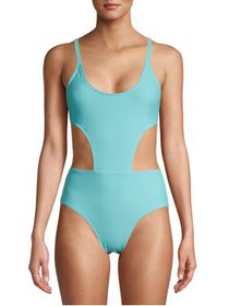 XOXO Open Sides Tie Back Monokini Swimsuit