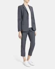 Staple Blazer in Space Dyed Grid