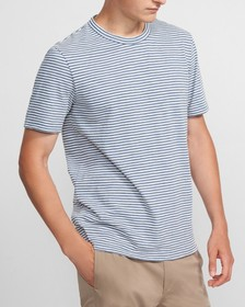Essential Tee in Striped Cotton Blend