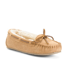 MINNETONKA Suede Junior Trappers