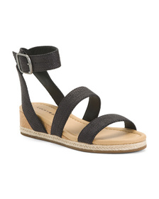 LUCKY BRAND Demi Cork Wedge Espadrille Wrap Sandal